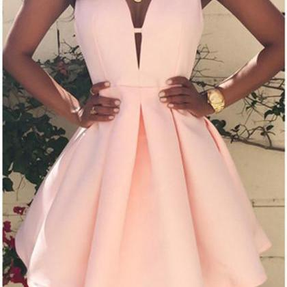 V Neck Homecoming Dress,Cute Homeco..