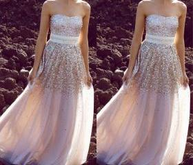 Sequins Prom Dress, Sparkly Prom Dress, Prom Dress, Evening Dress, Handmade Prom Dress, Gorgeous Prom Dress
