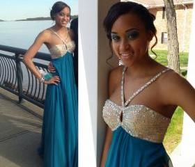 Charming Prom Dress,Chiffon Prom Dress,Beading Prom Dress,Spaghetti Strap Prom Dress,A-Line Prom Dress
