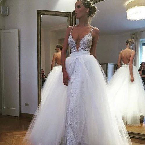 Deep V Neck Wedding Dresses 87