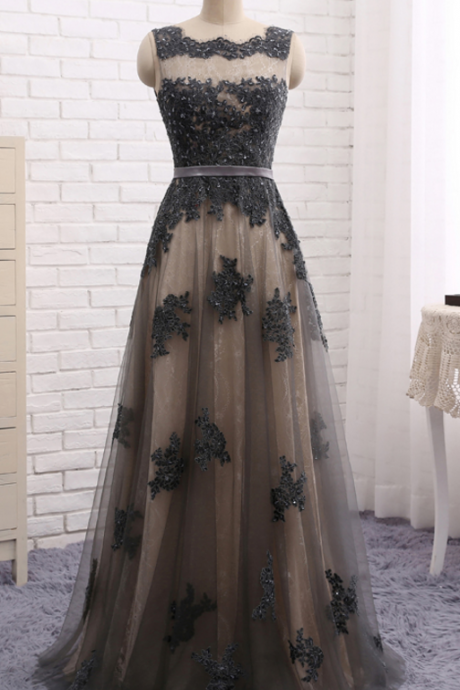Dress skirt, grey lace, dress skirt, dress skirt, elegant formal evening dress, evening dress