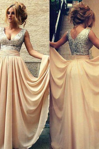 Champagne Prom Dress, Modest Prom Dress, Prom Dress, Off Shoulder Prom Dress, Bridesmaid Dress, Cheap Prom Dress