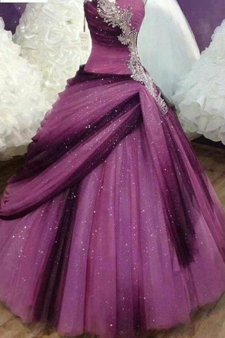 Sweetheart Ball Gown Quinceanera Dress,Wedding Ball Gown Dress,Colorful Prom Dress,Crystal Beaded Prom Dress,Formal Dress,Draped Prom Dress,Ball Gown Party Dress,Sweet 15/16 Dress,Dress for 15/16 years,Homecoming Dress Long