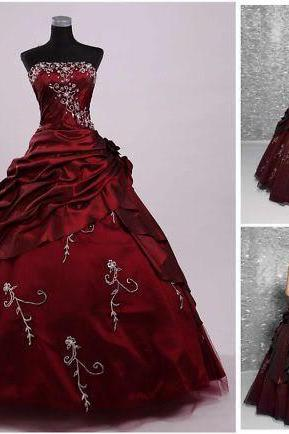 Delicate Strapless Quinceanera Dress,Embroidery Quinceanera Dress,Ball Gown Quinceanera Dress,Wedding Ball Gowns,Masquerade Ball Gowns,Debutante Gown,Prom Dress, Sweet 16 Dress,Dress for 16 Years,Party Ball Gowns Dress