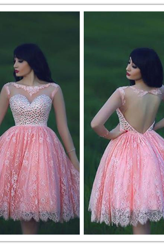 Lace Homecoming Dress,Pink Homecoming Dress,Pink Homecoming Dress,Lace Homecoming Dress,Short Prom Dress,Country Homecoming Gowns,Sweet 16 Dress,Simple Homecoming Dress,Casual Parties Gowns