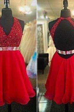 Charming Homecoming Dress 2016 ,Halter Homecoming Dress,Homecoming Dress Red,Homecoming Dress Backless ,Appliques Homecoming Dress,8th Grade Dance Dress,Homecoming Dress for Juniors,Homecoming Dress Plus Size,Homecoming Dress Custom made,Short Prom Dress,Short Party Dress,Prom Dress for Juniors Short,Pom Dress Plus Size Short ,Evening Dress Short ,Formal Dress Short,Cocktail Dress Short