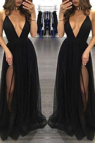 black Prom Dress,High Quality Prom Dress,Prom Dress 2017,tulle Prom Gowns,sexy Evening Dress,Formal prom Dress