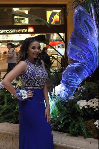 royal blue long Prom Dress,High Quality Prom Dress,beaded Prom Dress 2017,Real Custom Made Prom Gowns,charming Evening Dress,Formal prom Dress