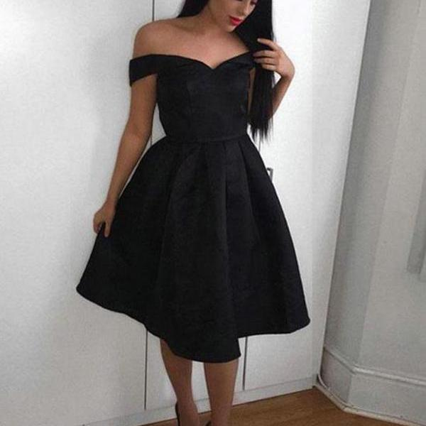 Sexy Off Shoulder Sweetheart Homecoming Prom Dress,Cap Sleeves Knee Length Homecoming Dress,Ball Gown Prom Homecoming Dress