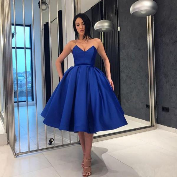 2018 New Off Shoulder Satin Homecoming Dress,Ball Gown Homecoming Dress