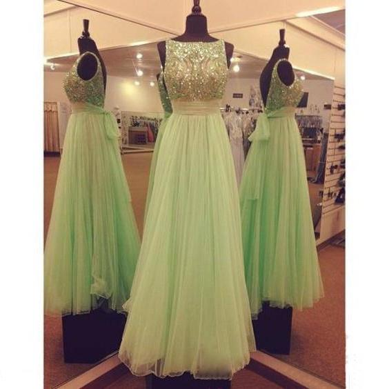 Green Prom Dress, Affordable Prom Dress, Beautiful Prom Dress, Long Prom Dress, Evening Dress, Tulle Prom Dress, Pretty Prom Dress