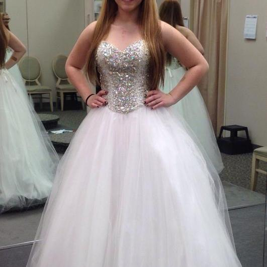 Gorgeous Ivory Prom Dress,Crystal Beaded Ball Gowns ,Prom Ball Gowns,Quinceanera Dress,Quinceanera Gowns,Sweet 16 Dress ,Dress for Sweet 16 years ,Evening Dress ,Strapless Formal Dress,Celebrity Dress,Pageant Dress
